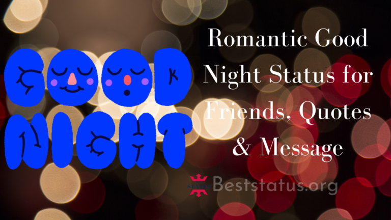 Romantic Good Night Status for Friends, Quotes & Message