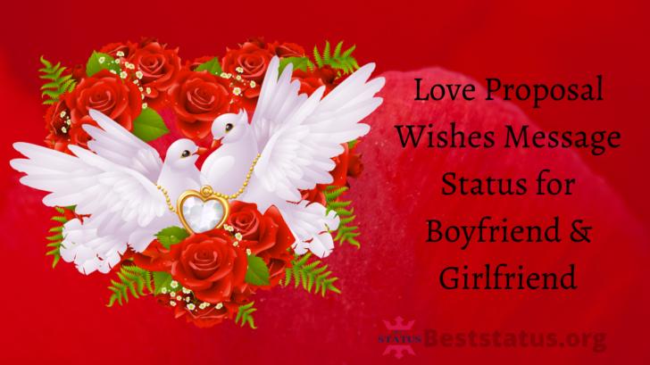 Love Proposal Wishes Message Status for Boyfriend & Girlfriend