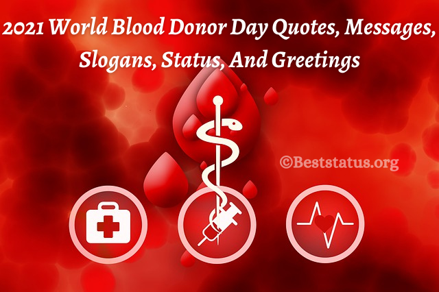 2021 World Blood Donor Day Quotes, Messages, Slogans, Status, And Greetings
