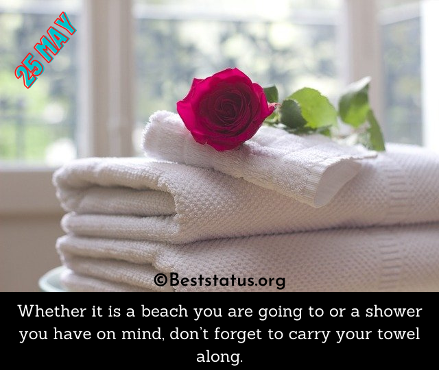 Towel Day Quotes Images
