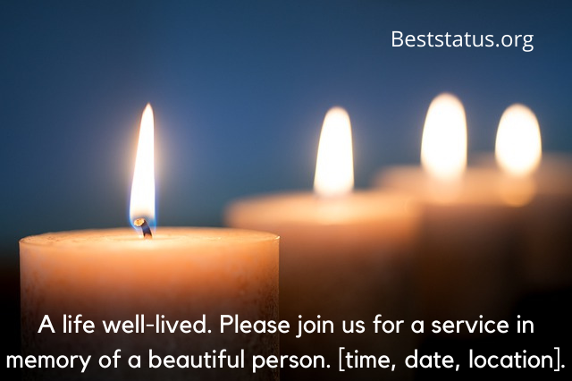 funeral invitation cards